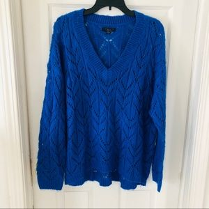 NWOT AMERICAN EAGLE Royal blue knit sweater size M